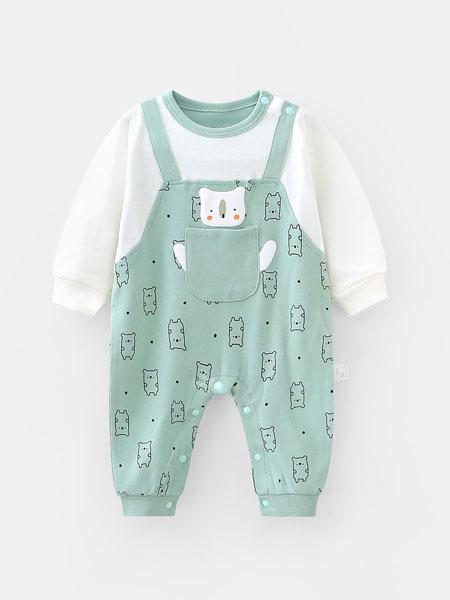 七贝乐童装品牌2020春夏新生儿婴儿衣服纯棉哈衣男宝宝连体衣6春装0-3个月