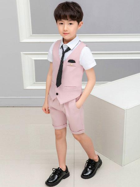 衣网达童装品牌2020春夏男童两件套小西装男童套装儿童新款西服礼服