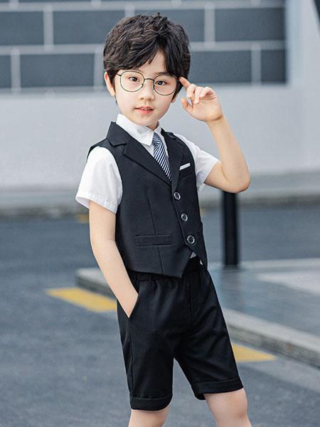 衣网达童装品牌2020春夏童装新款男儿童韩版休闲西装朋友王子西服表演舞台礼服