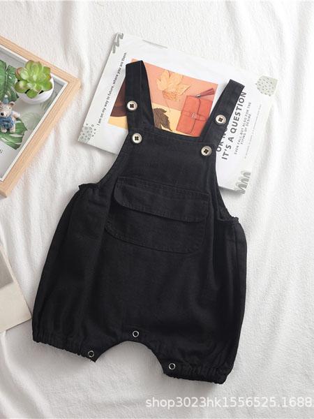 趣匠童装品牌2020春夏儿童男童女童背带裤韩版男女宝宝可开裆休闲牛仔背带短裤