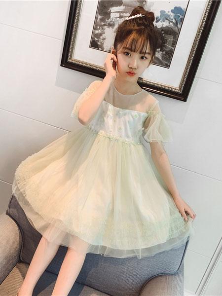 滑板猫童装品牌2020春夏新款儿童洋气纱裙子夏季韩版中大童公主裙