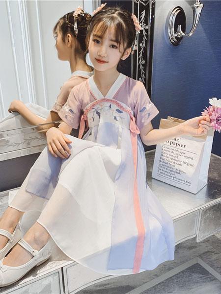 滑板猫童装品牌2020春夏新款儿童古装洋气中大童超仙襦裙子