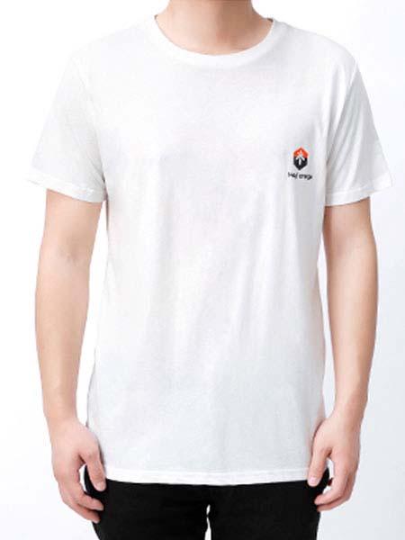 暖康小黑桔童装品牌2020春夏圆领白色T恤
