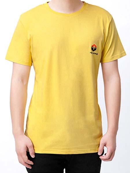 暖康小黑桔童装品牌2020春夏黄色T恤