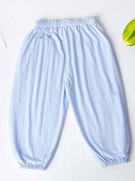 暖康小黑桔童装品牌2020春夏浅蓝色裤子