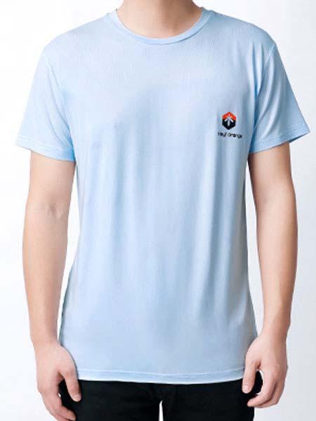 暖康小黑桔童装品牌2020春夏蓝色T恤