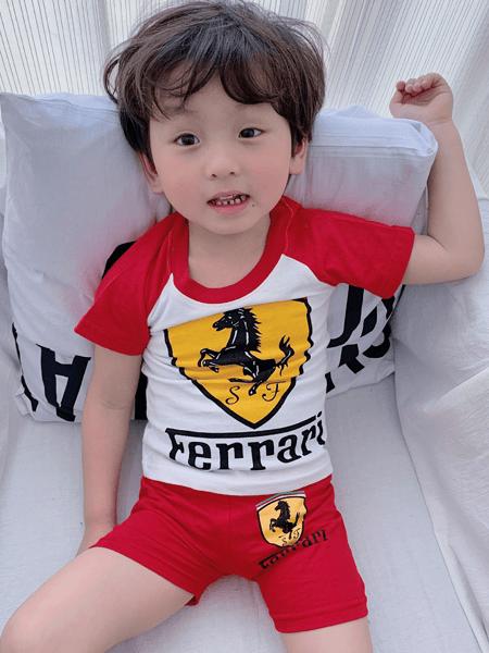 贝舒馨童装品牌2020春夏小童婴幼童套装 棉短袖T恤套装