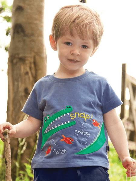 贝舒馨童装品牌2020春夏新款童装棉质卡通印花 短袖短裤两件套中小童儿童套装