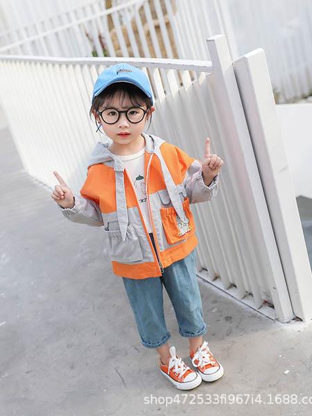 阿宝呗呗童装品牌2020春夏女童新款外套韩版女童上衣儿童休闲童装时尚拼色连帽衣潮