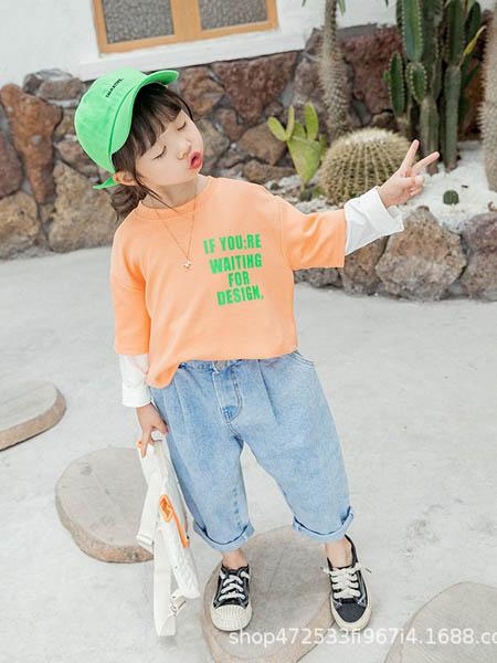阿宝呗呗童装品牌2020春夏女童2020新款韩版儿童拼色卫衣套头圆领假两件小童洋气春夏秋上衣