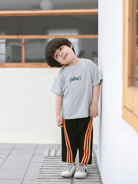 哥哥咪呀童装品牌2020春夏童装新款儿童韩版亲子装可爱t黑科技防蚊面料短袖上衣衫