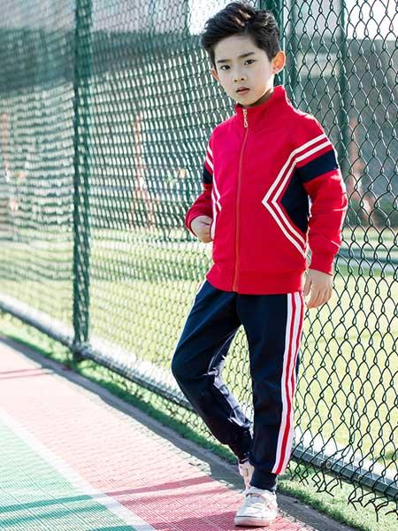 艾儿家童装品牌2020春夏新款园服班服运动会校服男女可穿精梳棉套装运动亲子可定做