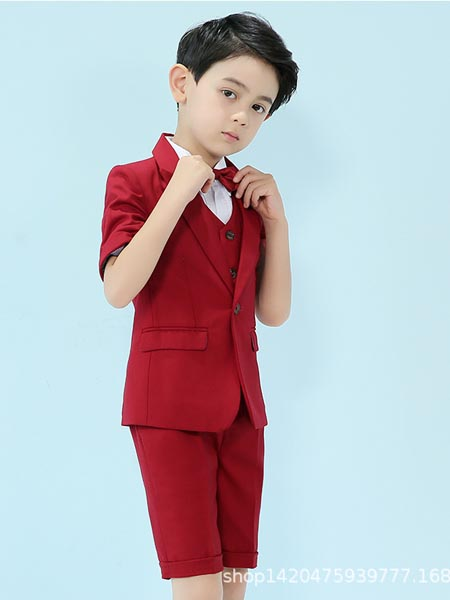 贝姗妮童装品牌2020春夏儿童西装套装新款舞台表演主持演出服花童礼服儿童西服男