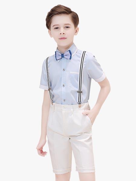 贝姗妮童装品牌2020春夏新款男童礼服套装校服小学生合唱演出儿童主持人花童背带裤