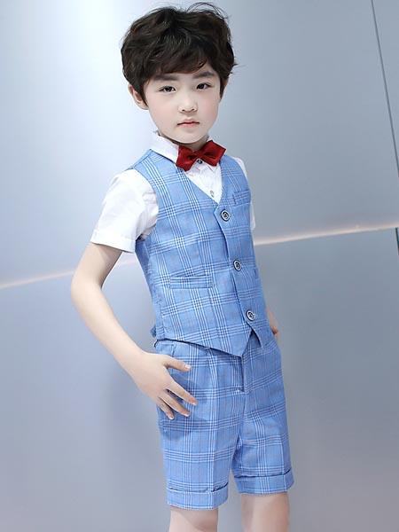 贝姗妮童装品牌2020春夏男孩花童礼服主持人马甲小西服儿童表演西装大童钢琴演出服套装