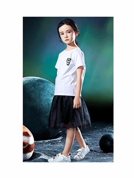 Pandas Friend童装品牌2020春夏纯棉圆领网纱套装裙