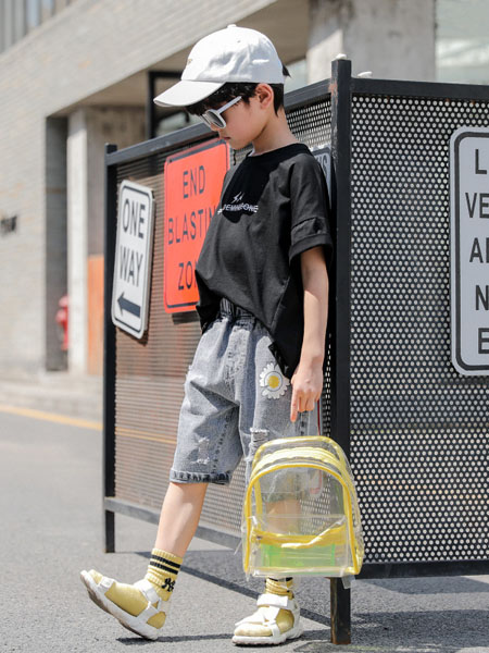 深语童装品牌2020春夏男童夏装套装帅气新款韩版洋气中大童夏季短袖两件套儿童潮衣