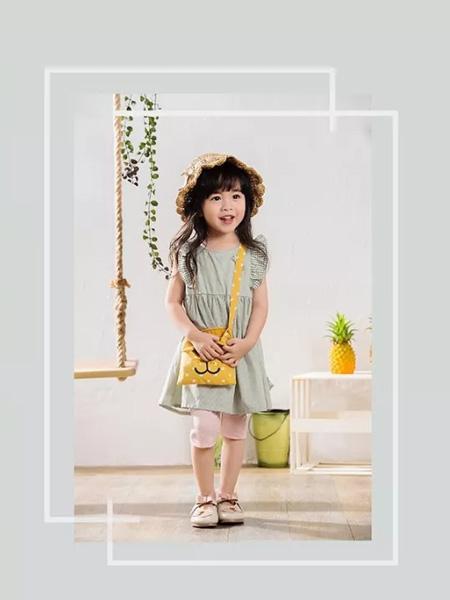 优子壹家品牌童装童装品牌2020春夏浅绿色连衣裙