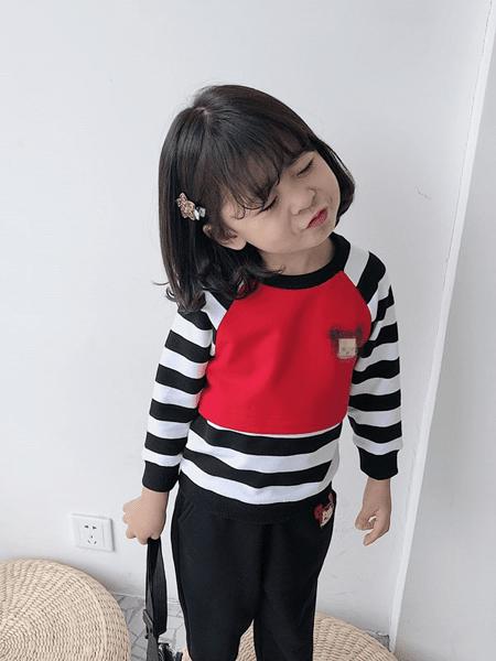 爱飞乐童装品牌2020春夏儿童卫衣男女童装宝宝洋气套头卫衣新款印花上衣