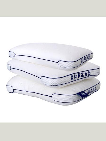 梦洁宝贝儿童枕头针织小枕头颈椎枕头男女绣字可爱学生枕头