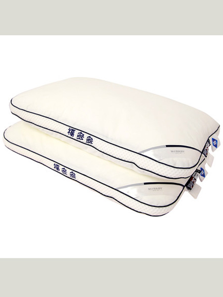 梦洁宝贝儿童低软枕芯吸汗透气男女小孩绣字可爱枕头四季通用
