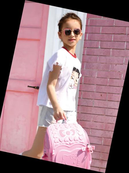 史努比/凯蒂猫/小叮当/迪士尼童装品牌2020春夏白色T恤女童