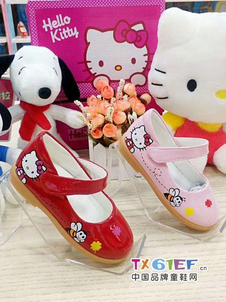 史努比/凯蒂猫/小叮当/迪士尼童鞋品牌红色小皮鞋