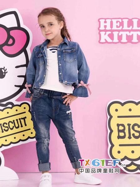 史努比/凯蒂猫/小叮当/迪士尼童装品牌牛仔套装女童