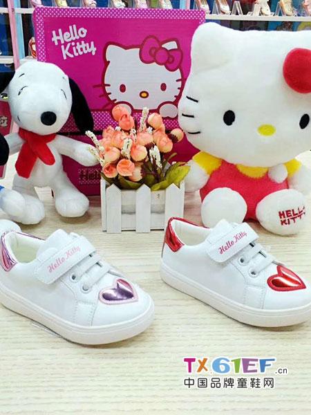 史努比/凯蒂猫/小叮当/迪士尼童鞋品牌粘带女童休闲小白鞋