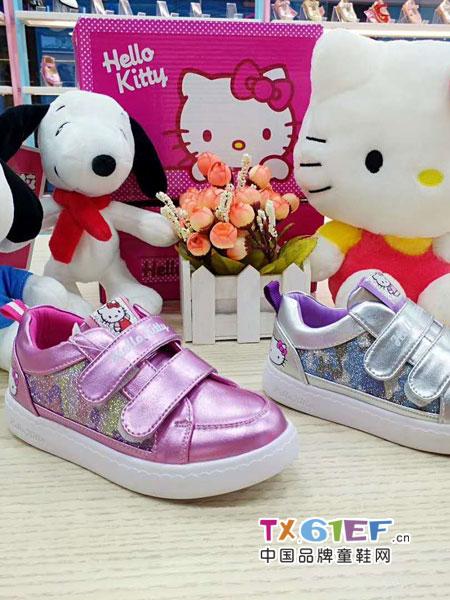 史努比/凯蒂猫/小叮当/迪士尼童鞋品牌亮粉色皮鞋