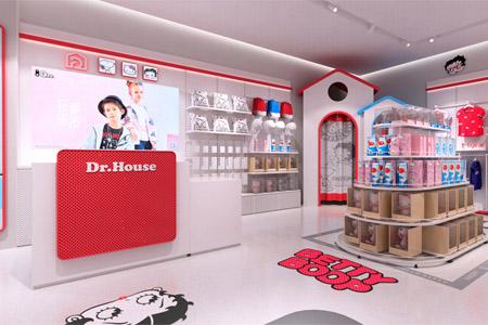 史努比/凯蒂猫/小叮当/迪士尼店铺展示