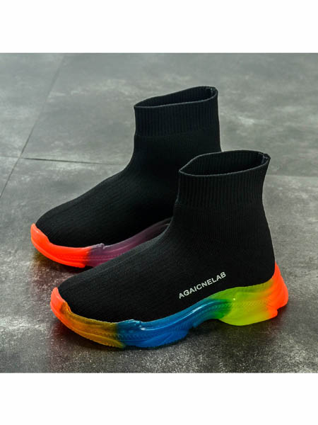 伢一巴童鞋品牌2020春夏儿童鞋子新款春秋男童运动鞋女童高帮袜子鞋童鞋