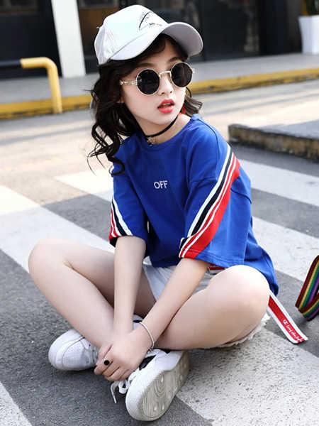 乐昂熊童装品牌2020春夏女童套装韩版短袖童装夏季套装中大童装儿童衣服