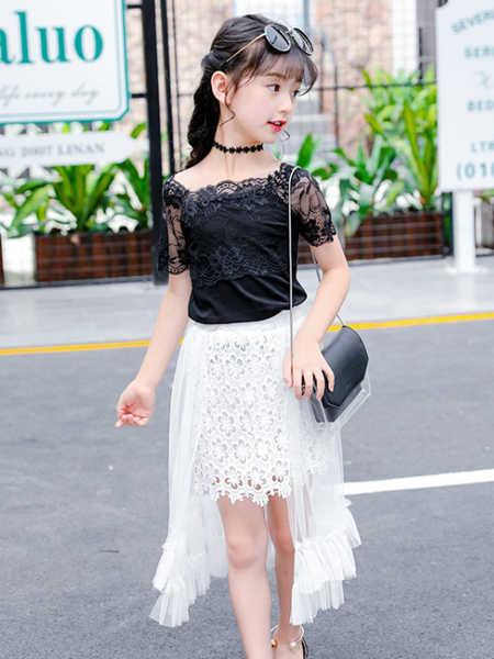 乐昂熊童装品牌2020春夏童装新款女童夏装套装韩版中大童连衣裙短裙子儿童夏季两件套