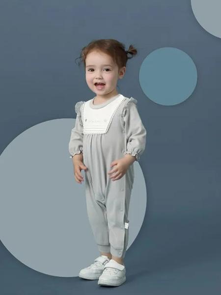 卡拉贝熊童装品牌2020春夏灰色连体裤