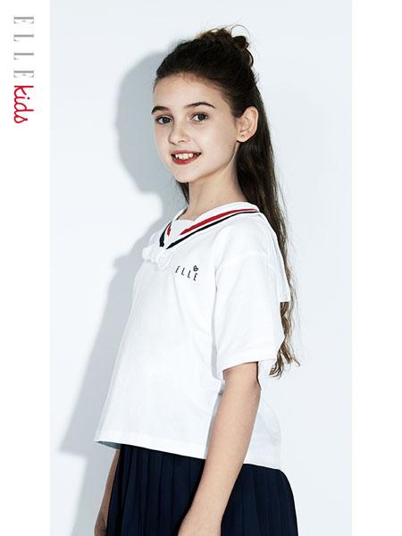 ELLE Kids童装品牌2020春夏女童海军领学院风短袖