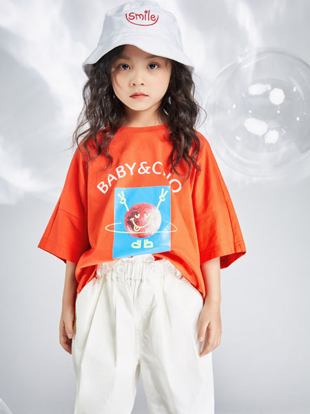 宝贝传奇童装品牌2020春夏橙色T恤