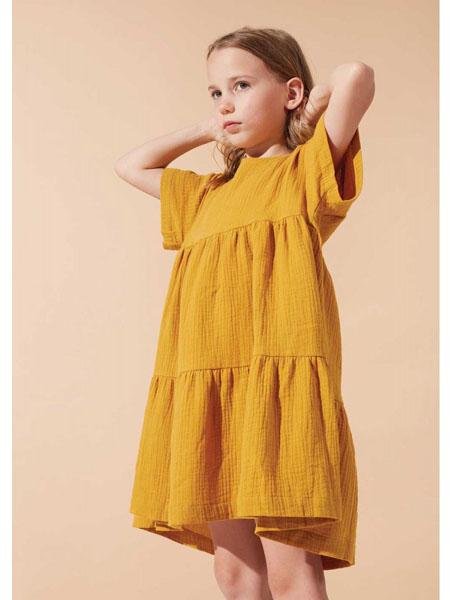 lillamode童装品牌2020春夏棉麻女童甜美连衣裙