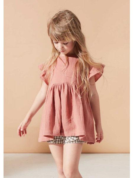 lillamode童装品牌2020春夏棉麻女童短袖