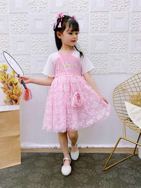 小嗨皮童装品牌2020春夏红色连衣裙
