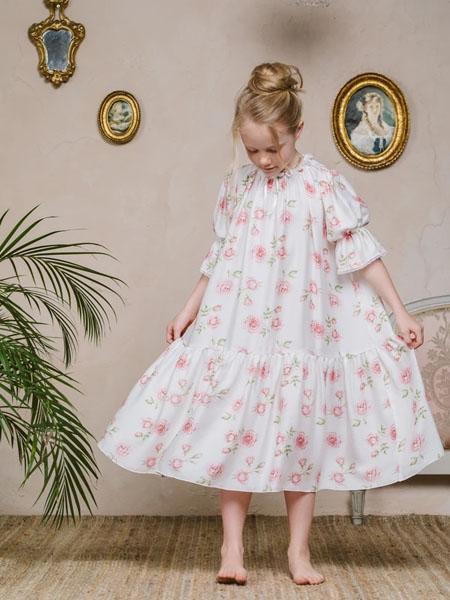 amiki童装品牌2020春夏女童宽松透气睡裙