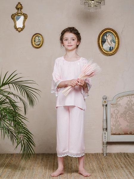 amiki童装品牌2020春夏纯棉长裤睡衣套装