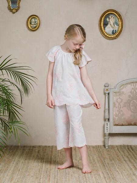 amiki童装品牌2020春夏纯棉轻肤透气短袖睡衣套装