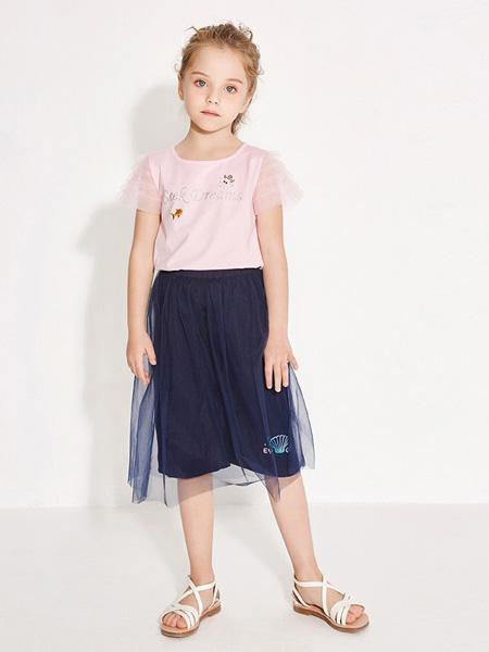 托馬斯和朋友,凯蒂猫,Eyookids惠代织童装品牌2020春夏藏蓝色半裙