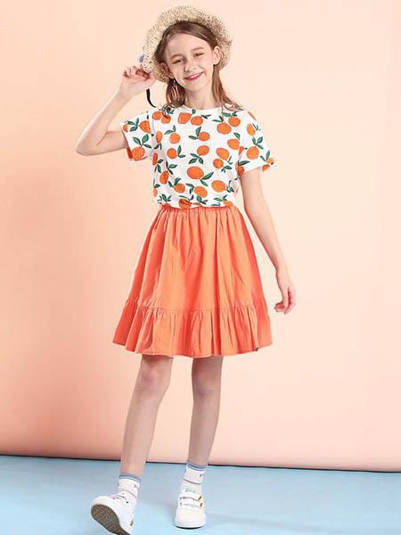 安娜与杰西童装品牌2020春夏女童甜美套装裙