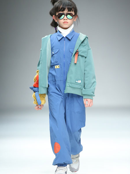 豆丁超人童装品牌2020秋冬海蓝色外套