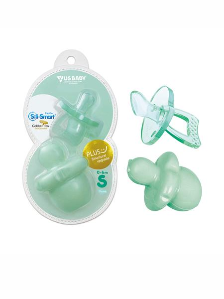 usbaby婴童用品优生硅胶安抚奶嘴0-6-18个月新生儿婴儿母乳仿真安睡安慰哄娃神器