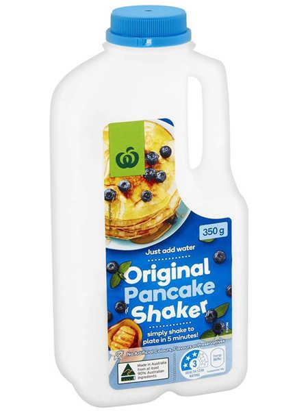 woolworths婴儿食品原味松饼粉350g 煎饼烘焙 早餐华夫饼预拌粉