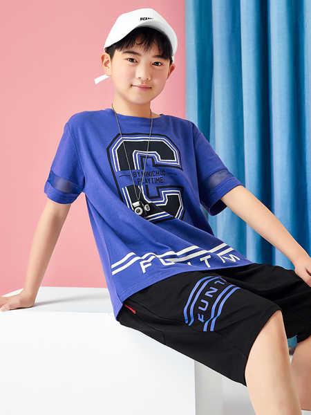 普哆衣童装品牌2020春夏套装胖童加大加肥0帅气短袖运动男孩