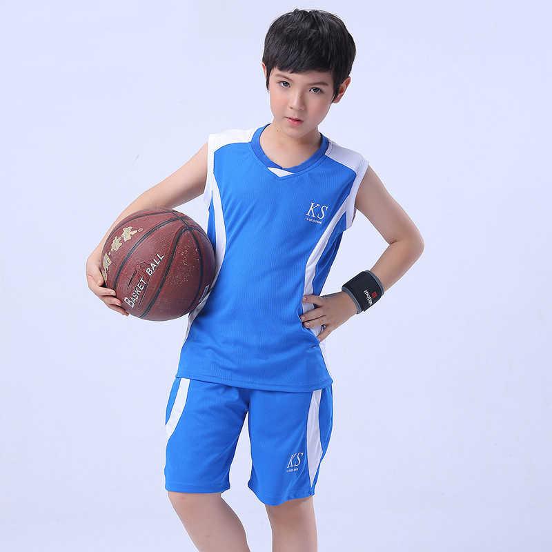 咔奇部落童装品牌2020春夏儿童运动服新款中大童无袖背心短裤套装男孩篮球服两件套